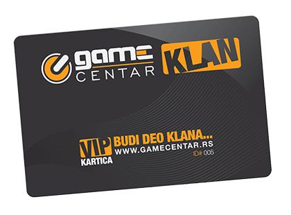 Kartica Game Centar klana