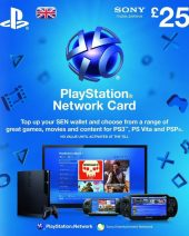 PSN dopuna kredita za PS4 i PS3 - Playstation Network Wallet kartica £25
