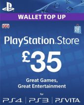 PSN dopuna kredita za PS4 i PS3 - Playstation Network Wallet kartica £35