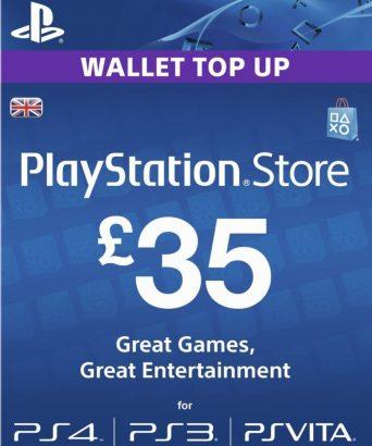 PSN dopuna kredita za PS4 i PS3 - Playstation Network Wallet kartica £35
