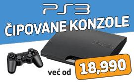 Cipovane PS3 konzole CENA